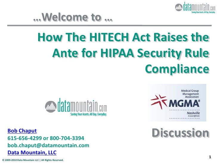 How The Hitech Act Raises The Ante For Hipaa Security Rule Compliance