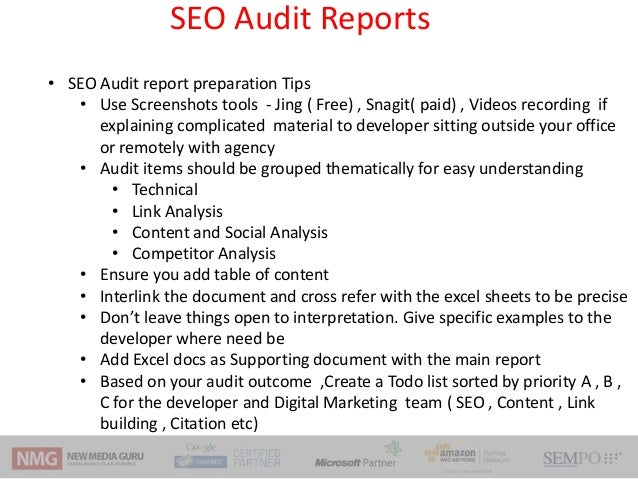 Seo Audit Workshop  Frameworks  Techniques And Tools