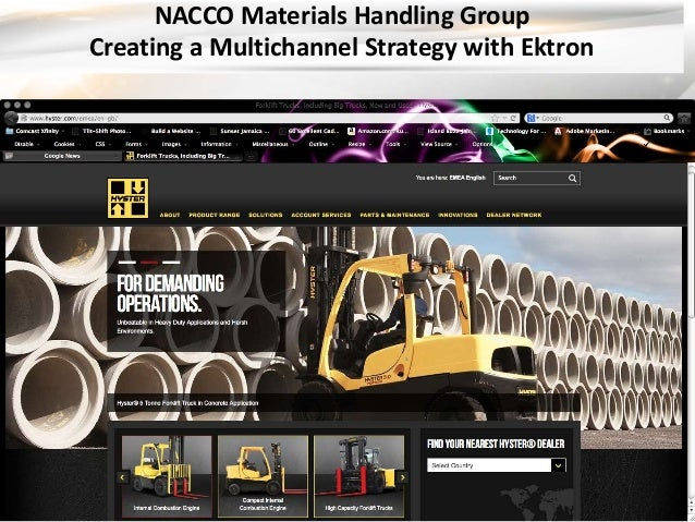 NACCO Materials Handling Group  Creating a Multichannel Strategy with Ektron
