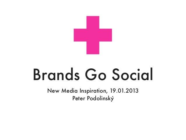 Brands Go Social New Media Inspiration, 19.01.2013        Peter Podolinský