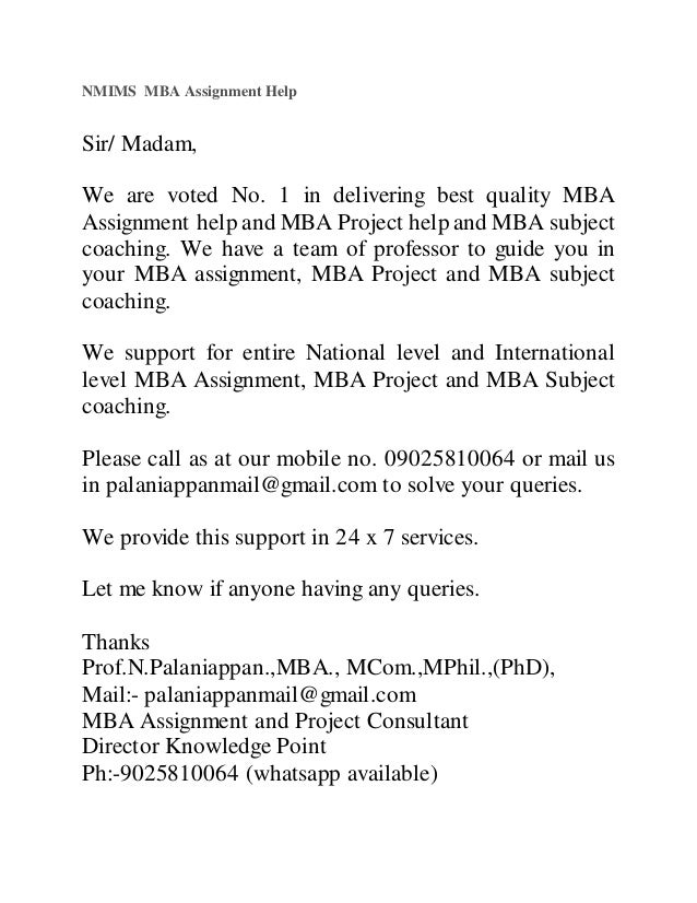 nmims mba assignment help jpg cb  nmims mba assignment help sir madam we are voted no