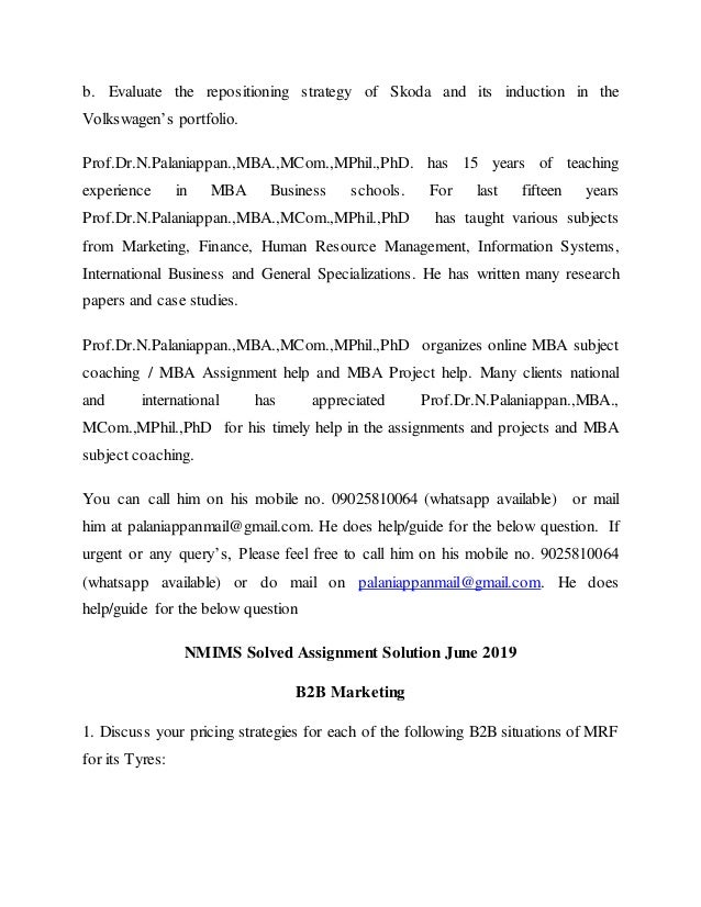 NMIMS Solved Assignment Answer Sheet June 2019