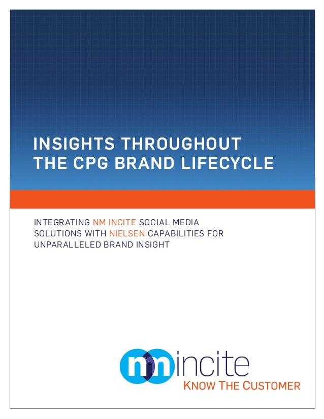 INSIGHTS THROUGHOUTTHE CPG BRAND LIFECYCLEINTEGRATING NM INCITE SOCIAL MEDIASOLUTIONS WITH NIELSEN CAPABILITIES FORUNPARAL...