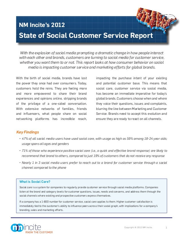 NM Incite's 2012 State of Social Customer Service Report  With the explosion of social media prompting a dramatic change i...