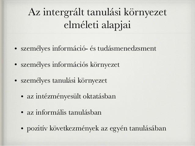Tanulási környezet Slide 3
