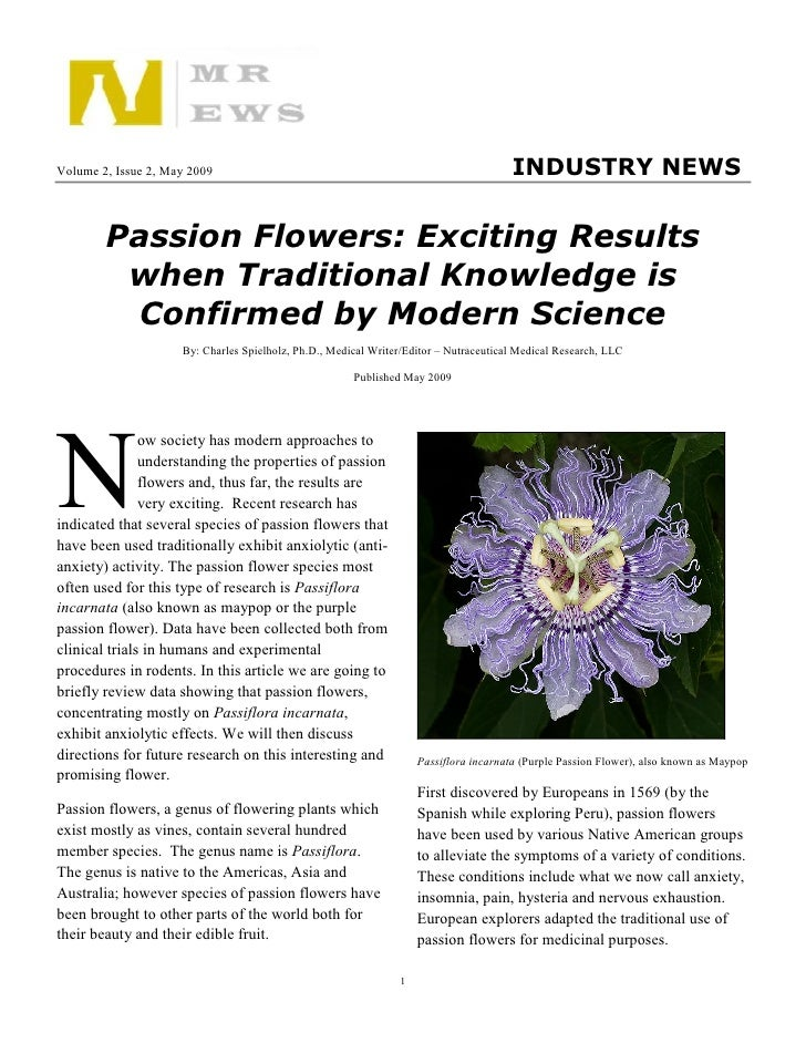 Volume 2, Issue 2, May 2009                                                            INDUSTRY NEWS           Passion Flo...