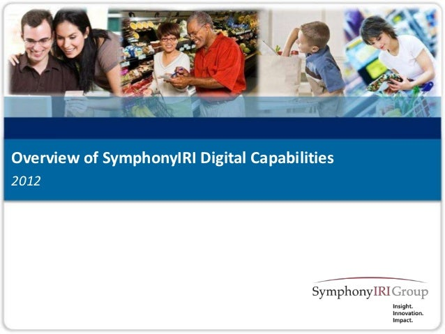 Overview of SymphonyIRI Digital Capabilities20121   Copyright © SymphonyIRI Group, 2012. Confidential and Proprietary.