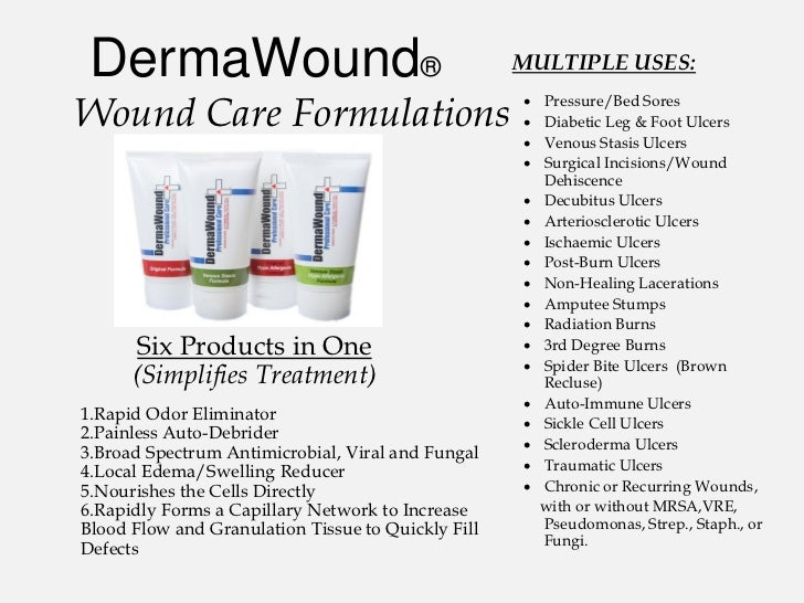 DermaWound®                                        MULTIPLE USES:Wound Care Formulations                                 ...