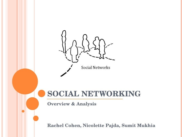 SOCIAL NETWORKING Overview & Analysis Rachel Cohen, Nicolette Pajda, Sumit Mukhia