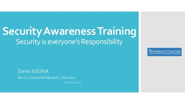 Information security awareness training ppt