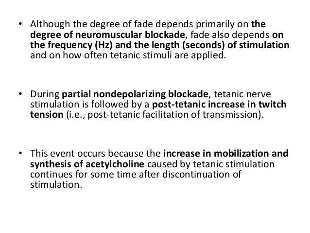 • The necessary level of blockade of the adductor pollicis muscle to ensure paralysis of the diaphragm depends on the type...