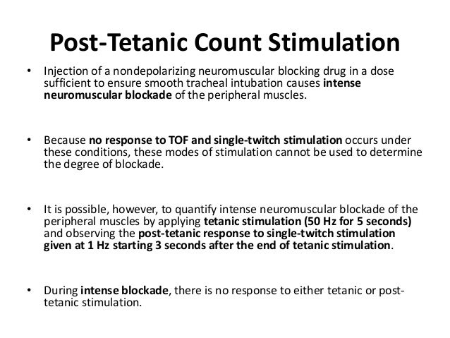 Double-Burst Stimulation • DBS consists of two short bursts of 50-Hz tetanic stimulation separated by 750 msec. • The dura...