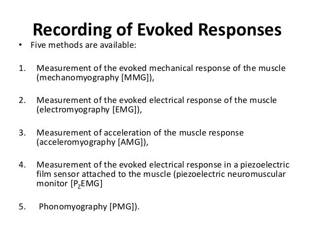• Two new sites for recording the EMG response have been introduced: the larynx and the diaphragm. • By using a noninvasiv...