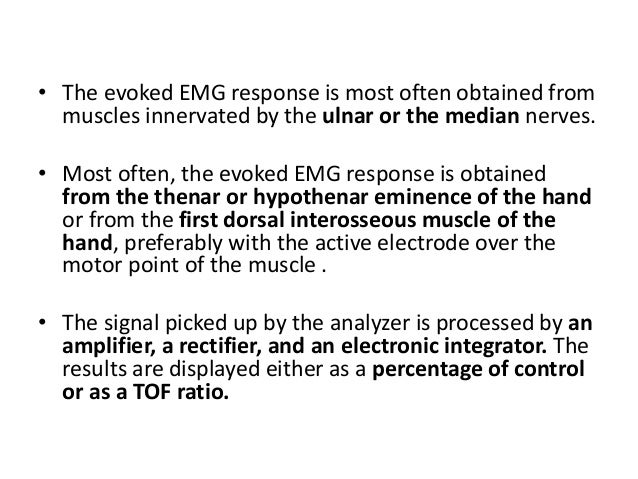 • When an accelerometer is fixed to the thumb and the ulnar nerve is stimulated, an electrical signal is produced whenever...