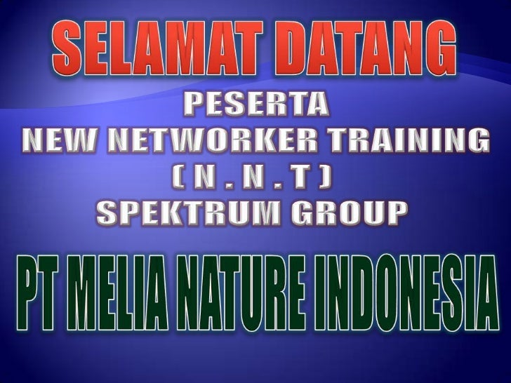 New Networker Training