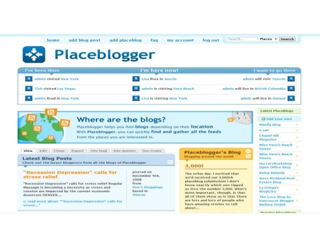 placeblogger Screenshot of Placeblogger