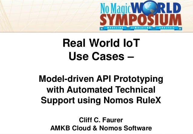amkbcloud amkbcloud.com Your Presentation Title Goes Here Real World IoT Use Cases – Model-driven API Prototyping with Aut...