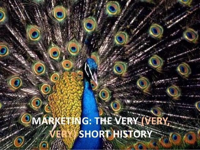 MARKETING: THE VERY (VERY,VERY) SHORT HISTORY