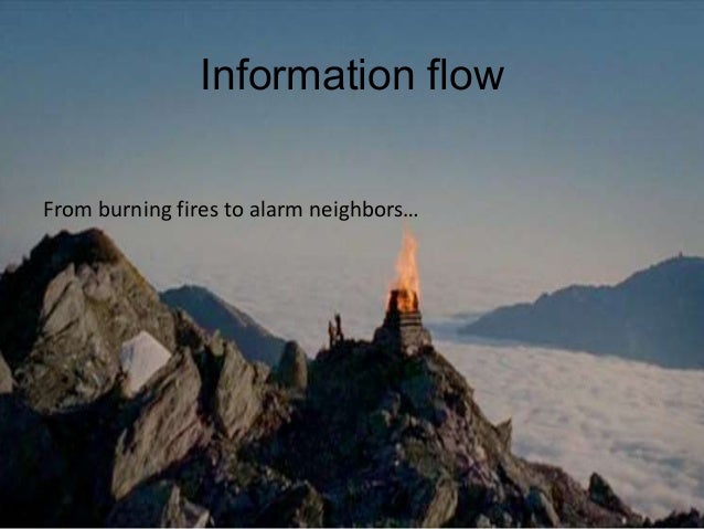 Information flowFrom burning fires to alarm neighbors…