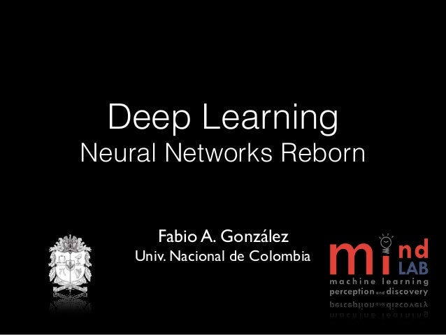 Deep Learning Neural Networks Reborn Fabio A. González Univ. Nacional de Colombia