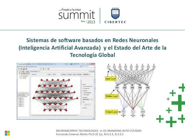 Sistemas de software basados en Redes Neuronales (Inteligencia Artificial Avanzada) y el Estado del Arte de la Tecnología ...