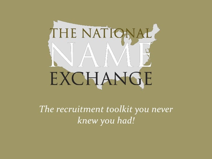 The recruitment toolkit you never knew you had!<br />