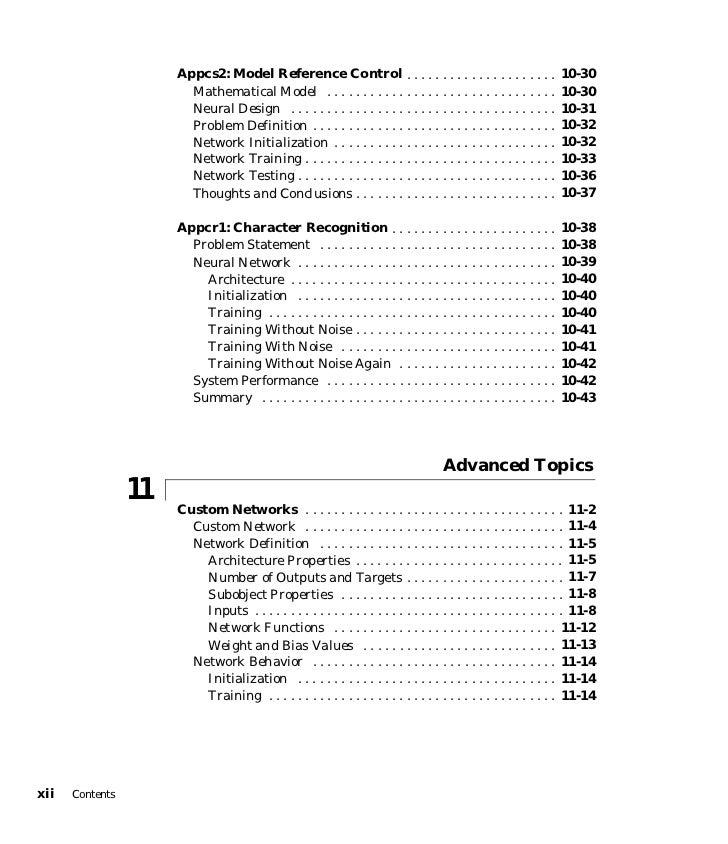 Neural Network Toolbox MATLAB