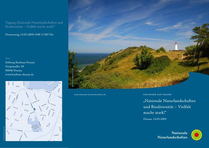 """Tagung """"Nationale Naturlandschaften und                           Biodiversität – Vielfalt macht stark!""""                  ..."""