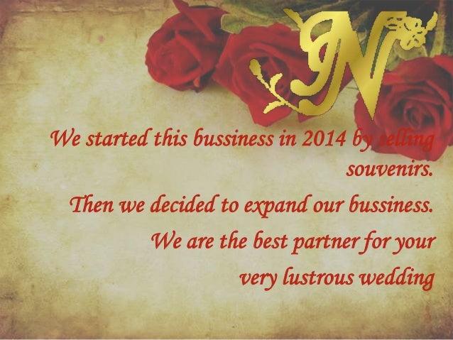 wedding organizer presentation example
