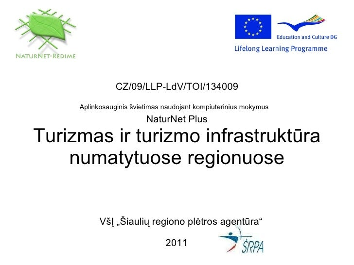 CZ/09/LLP-LdV/TOI/134009 Aplinkosauginis švietimas naudojant kompiuterinius mokymus   NaturNet Plus Turizmas ir turizmo in...