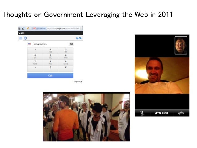 Thoughts on Government Leveraging the Web in 2011