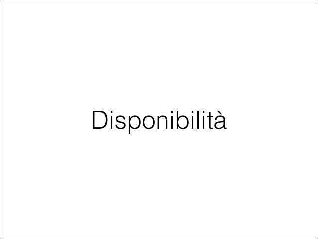 Disponibilità