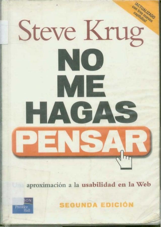Steve krug no me hagas pensar
