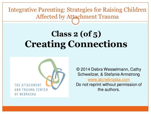 Integrative Parenting: Strategies for Raising Children Affected by Attachment Trauma © 2014 Debra Wesselmann, Cathy Schwei...