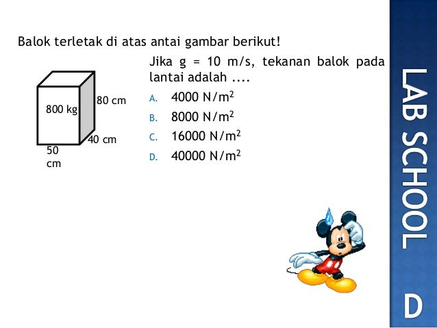 No 8 Soal Un 2012 Fisika Tekanan