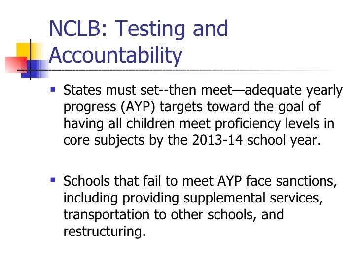 Nclb legislation and accountability