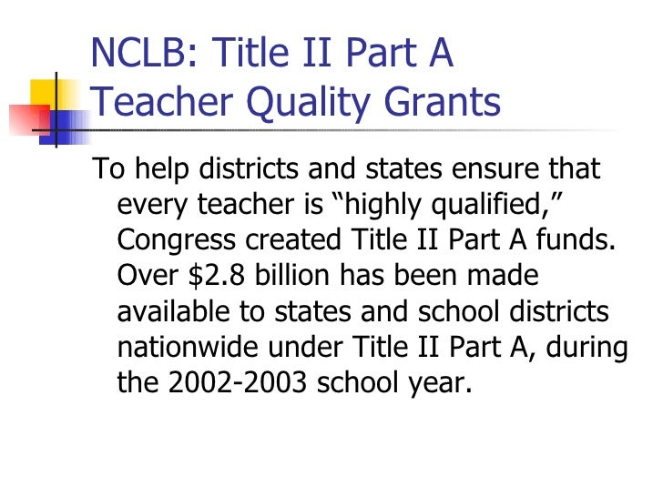 research paper on no child left behind act Leave no child behind act is not working no child left behind act puts the schools and teachers in pressure on the way they have to work with the students.