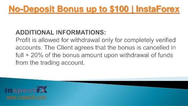 Insta forex 100 bonus