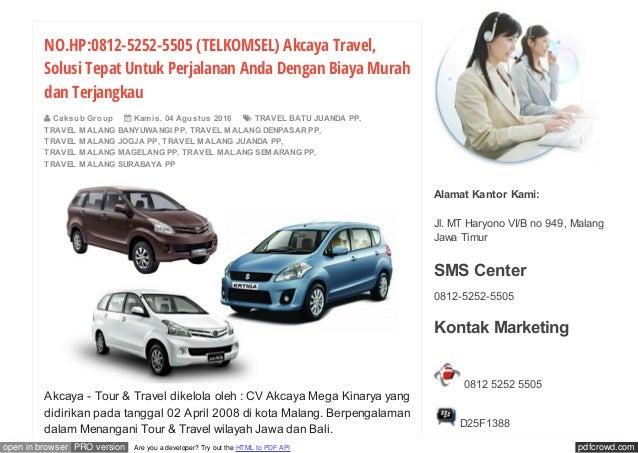 No hp-0812-5252-5505-kirana-tour-and-travel-malang-bali Slide 2
