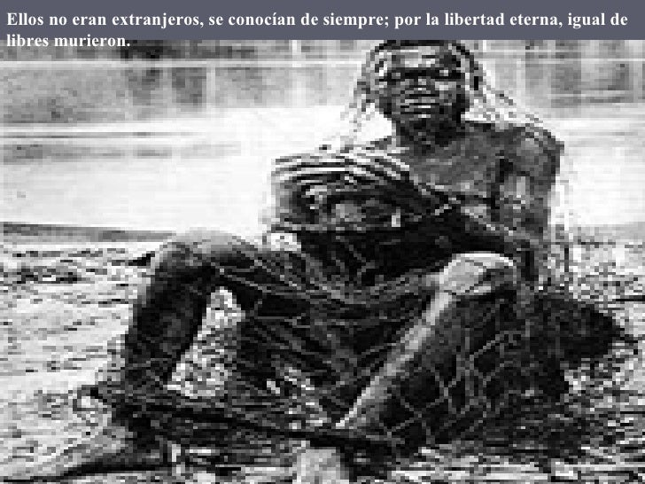 Ellosno eran extranjeros, se conocían de siempre; por la libertad eterna, igual de libres murieron.