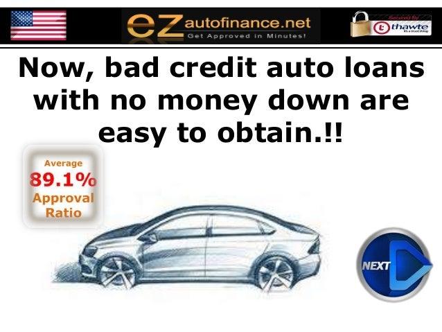 no money down auto loans bad credit car loans with zero down paymen. Black Bedroom Furniture Sets. Home Design Ideas