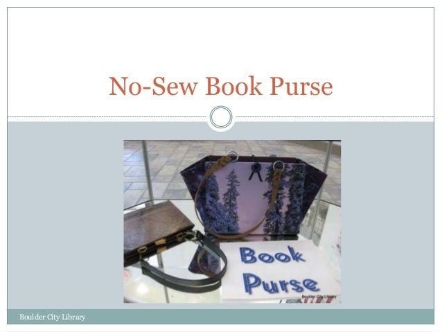 No-Sew Book Purse Boulder City Library