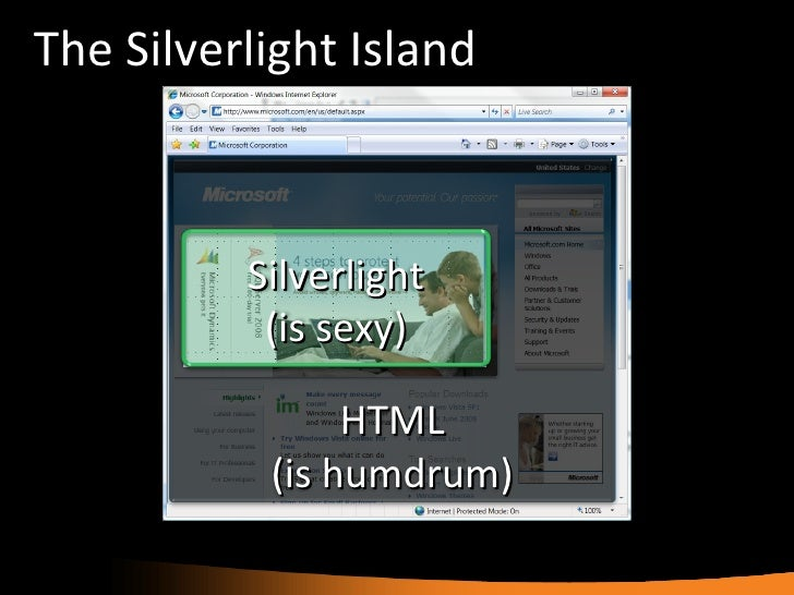 No Silverlight Application Is an Island of Richness Slide 2