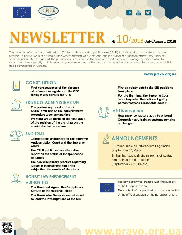 The newsletter was created with the support of the European Union. The content of the publication is not a reflection of t...