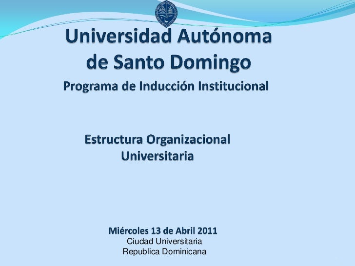 Ciudad UniversitariaRepublica Dominicana                        1
