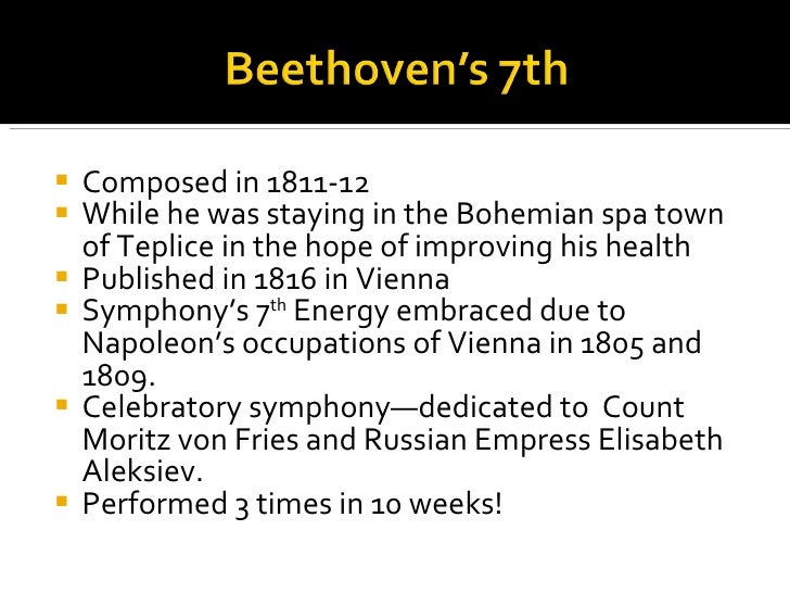 beethovens seventh symphony essay Beethovens ninth symphony concert report essays and term papers available at echeatcom, the largest free essay community.