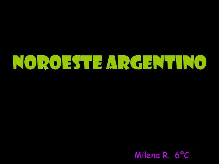 Noroeste Argentino Milena R.  6ºC