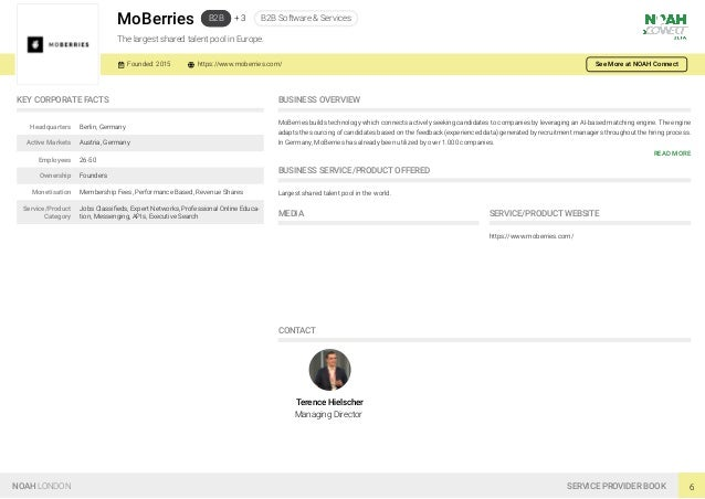 MoBerries B2B + 3 B2B Software & Services The largest shared talent pool in Europe. Founded: 2015 https://www.moberries.co...