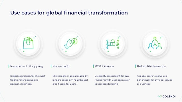 Use cases for global financial transformation Installment Shopping Digital conversion for the most traditional shopping and...