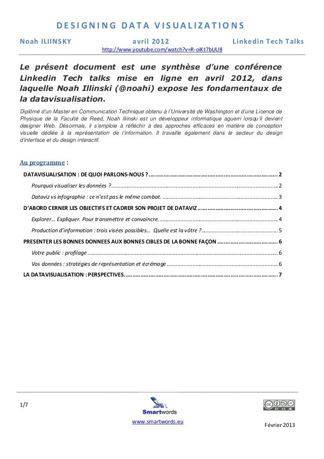 DESIGNING DATA VISUALIZATIONSNoah ILIINSKY                                                       avril 2012               ...